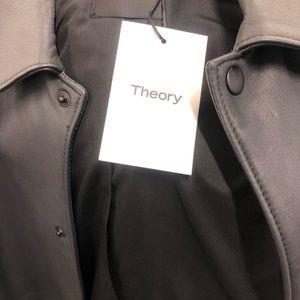 Theory leather Light Night jacket.